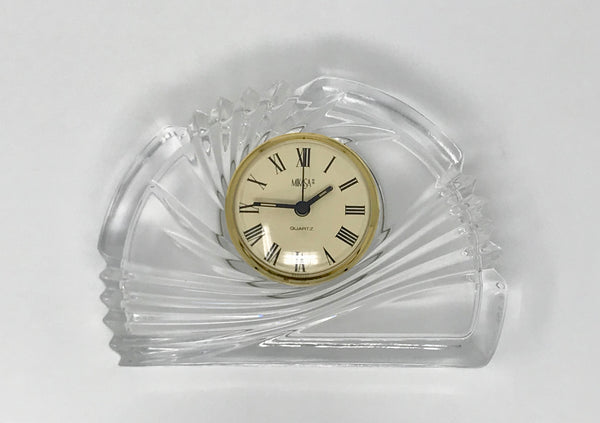Mikasa Crystal Desk Clock Made in Germany is the Perfect Office Gift! - Regalo Di Lusso
