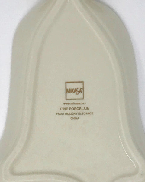 Mikasa Fine China Porcelain Christmas Bell Dish - Regalo Di Lusso