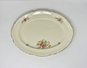 Vintage Taylor Smith Large Floral Serving Tray Made in USA - Regalo Di Lusso
