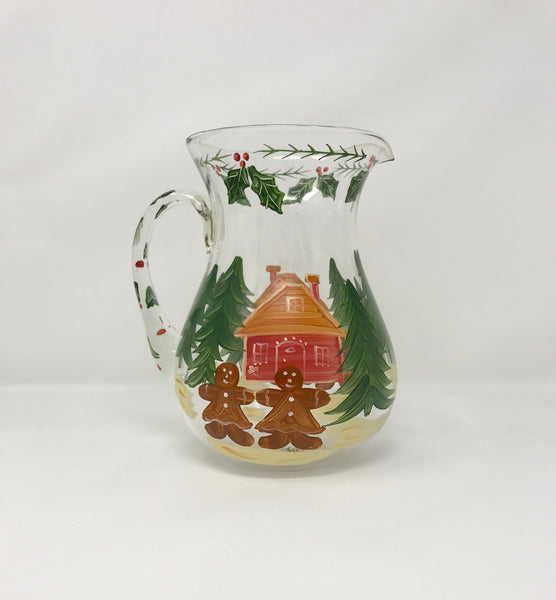 Vintage Gingerbread Glass Pitcher by The Cook's Bazaar Gourmet Collection - Regalo Di Lusso