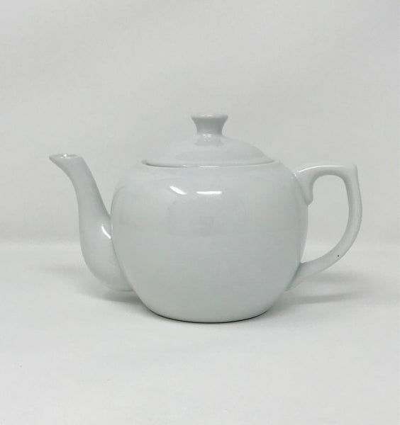 Vintage Cordon Bleu White Teapot with Notched and Vented Lid - Regalo Di Lusso
