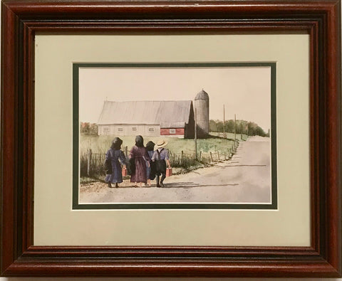 "Vintage Colored Print by Eric Mohn ""Coming Home"" - Regalo Di Lusso"