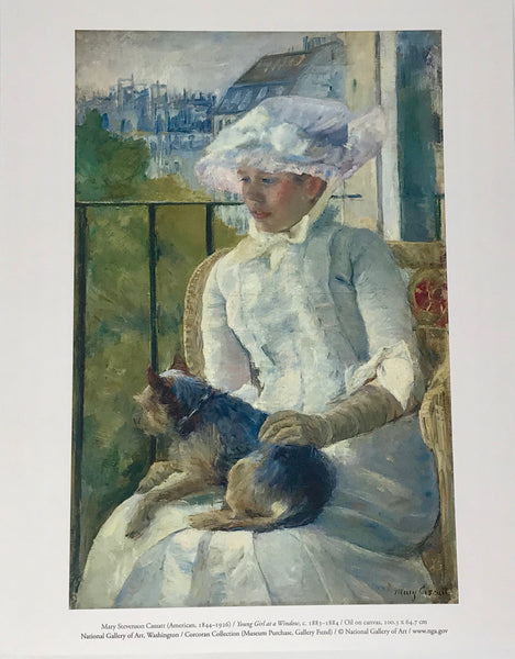 "Giclee Fine Art Print ""Young Girl at a Window,"" by Mary Cassatt (c. 1883-1884) - Regalo Di Lusso"