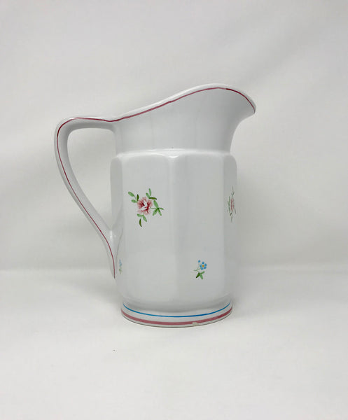 "Italian Pottery 10"" Pitcher with Floral Design Made in Italy - Regalo Di Lusso"