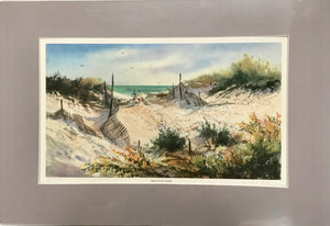 "Virginia Perle ""Island Beach Autumn"" Signed and Numbered Vintage Print - Regalo Di Lusso"