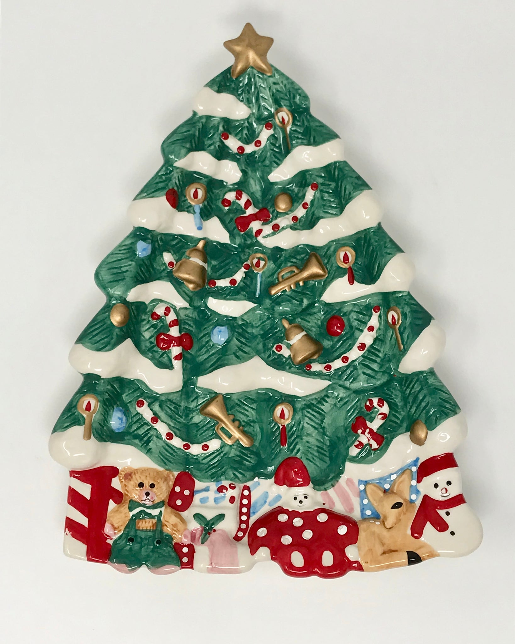 Christmas Tree Platter by Holly Tree - Regalo Di Lusso