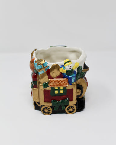 "Fitz and Floyd Elegant Christmas Whimsical 3.5"" Candle Cup Holder Treasured Gift - Regalo Di Lusso"