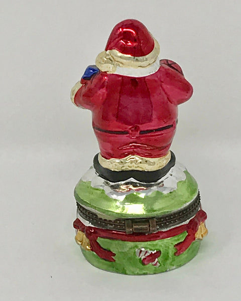 Collectible Santa with Keepsake Compartment by Christmas Fantasy Ltd. Housewarming Gift - Regalo Di Lusso