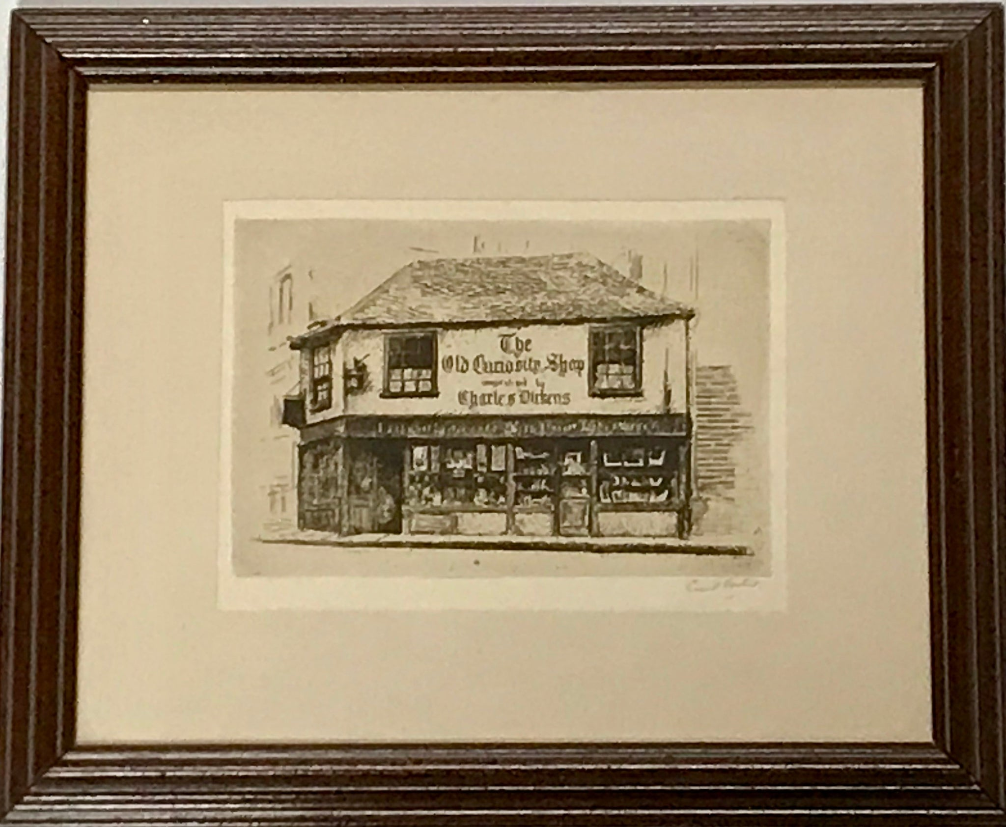 "Charles Dickens ""The Old Curiosity Shop"" Etching Print Signed by Cecil Forbes - Regalo Di Lusso"
