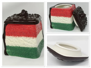 Beautiful Neapolitan Cookie Jar the Perfect Kitchen Decor Gift