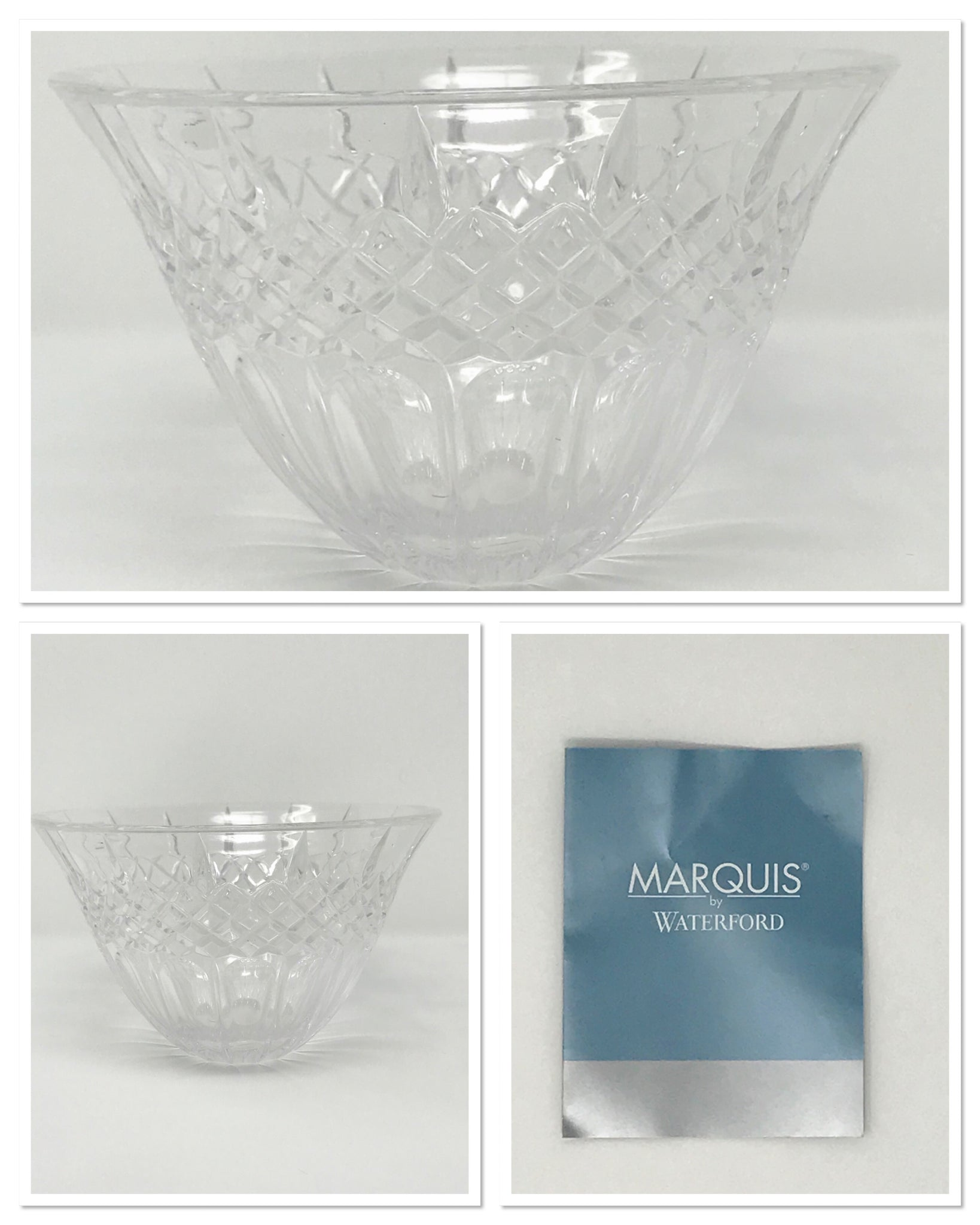 "Vintage Marquis by Waterford 8"" Crystal Bowl Shelton Pattern Made in Germany - Regalo Di Lusso"