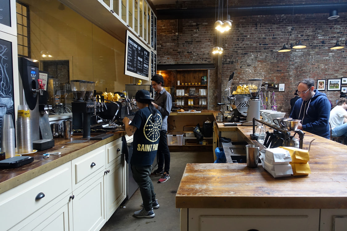 devocion coffee brooklyn loveramics tulip yellow coffee cups