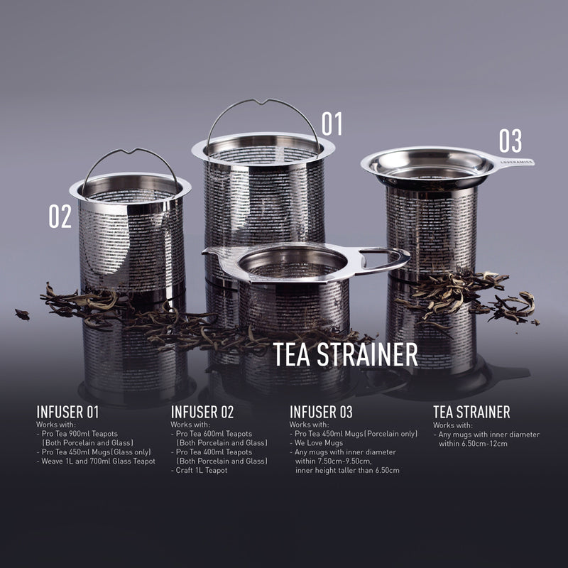 Pro Tea 900ml Glass Teapot with Infuser (Clear)