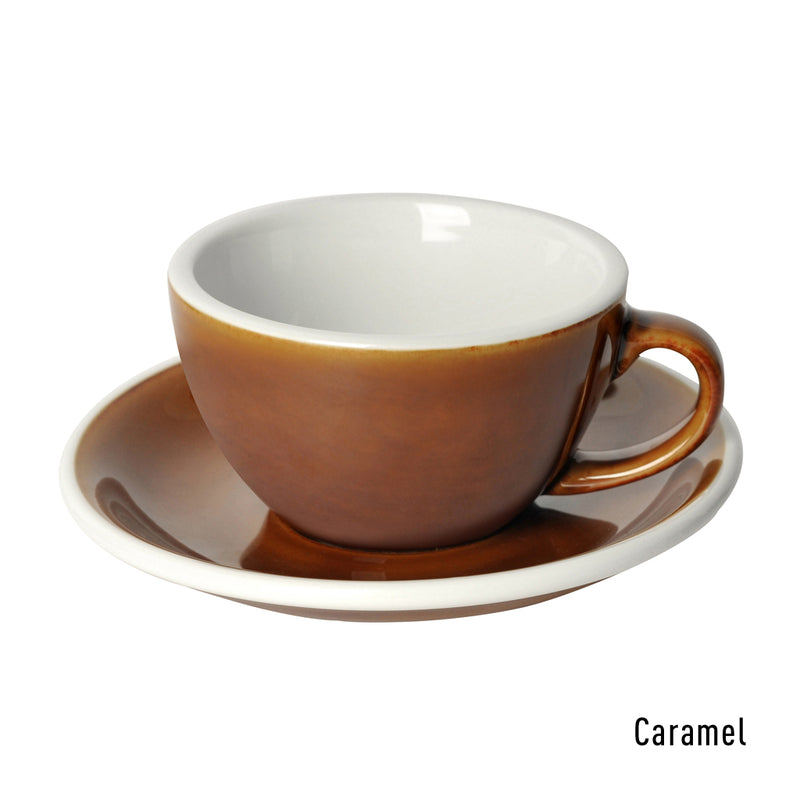 Egg 200ml Cappuccino Cup & Saucer (Potters Colours)