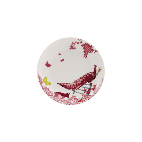 A Curious Toile 15cm Side Plate (Red)
