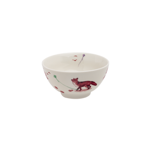 A Curious Toile 13.5cm Cereal Bowl (Red)