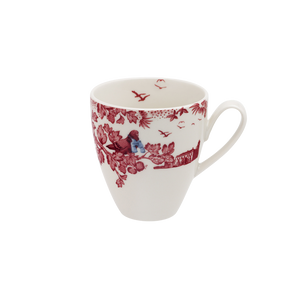 A Curious Toile 420ml Mug (Red)