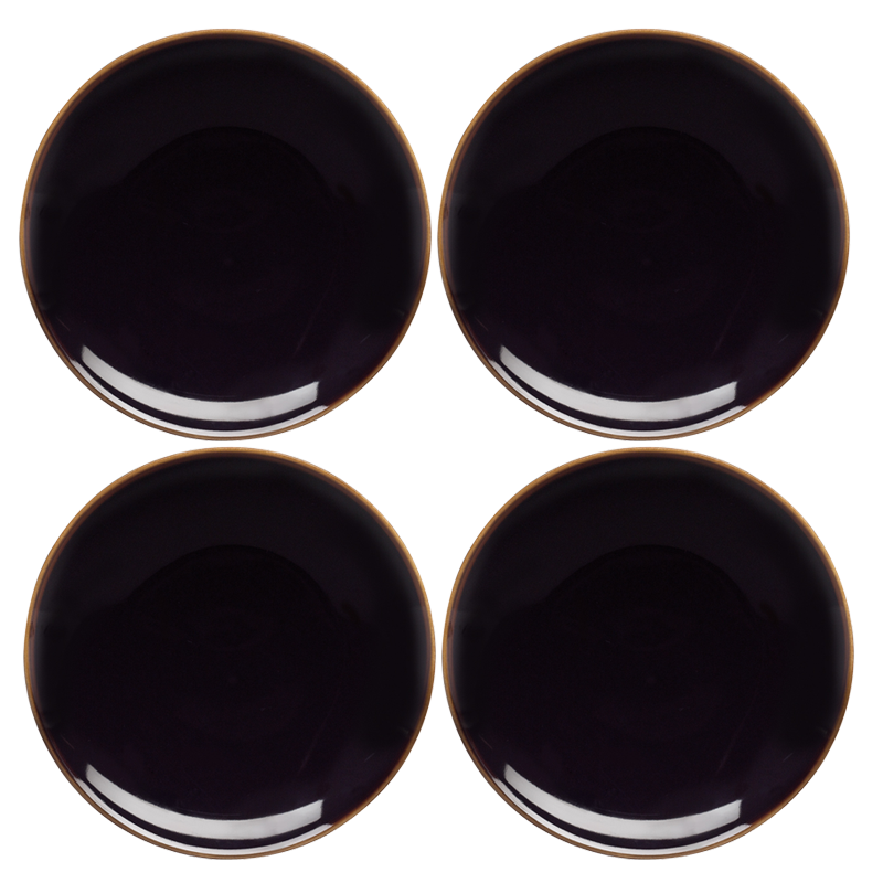 Studio Set of 4 x 20cm Salad Plates (Black)