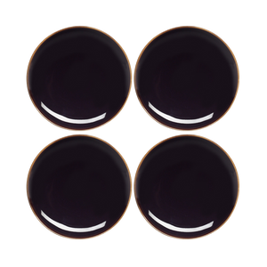 Studio Set of 4 x 16cm Side Plates (Black)