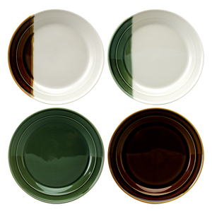 Sancai Set of 4 Salad Plates (Assorted)
