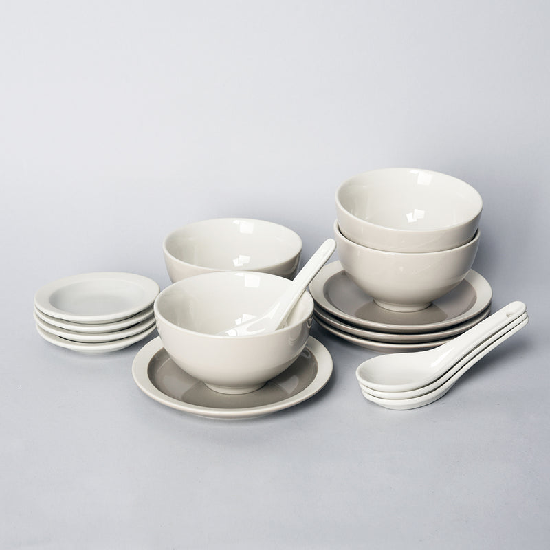 Er-go! Taupe - 16pc Bundle for 4 People - Oriental (EGT)