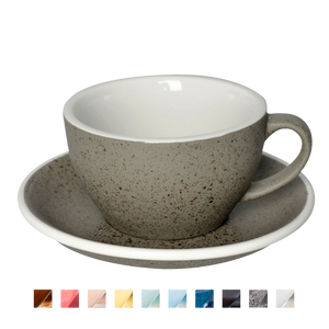 Egg 250ml Cappuccino Cup & Saucer (Potters Colours)