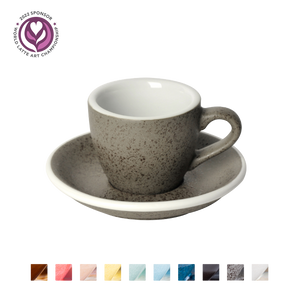 Egg 80ml Espresso Cup & Saucer (Potters Colours)