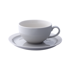 Er-go! 310ml Cup and Saucer (Taupe)