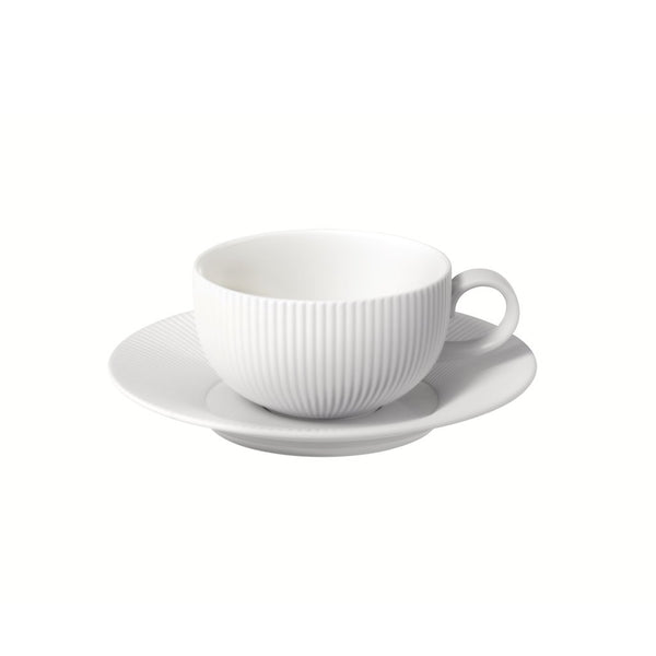 Flute 250ml Cup and Saucer (White)