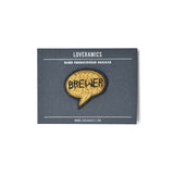 Loveramics Coffee Extremists Pattern Embroidered Pin (Brewer)