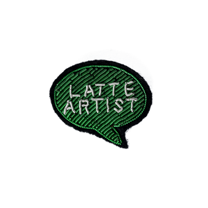 Coffee Extremists Pattern Embroidered Pin (Latte Artist)