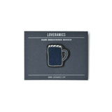 Loveramics Coffee Extremists Pattern Embroidered Pin (Bond Mug)