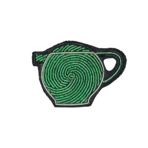 Coffee Extremists Pattern Embroidered Pin (Pro Tea Teapot)