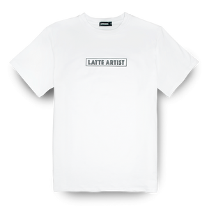 Coffee Extremists White Tee (Latte Artist)