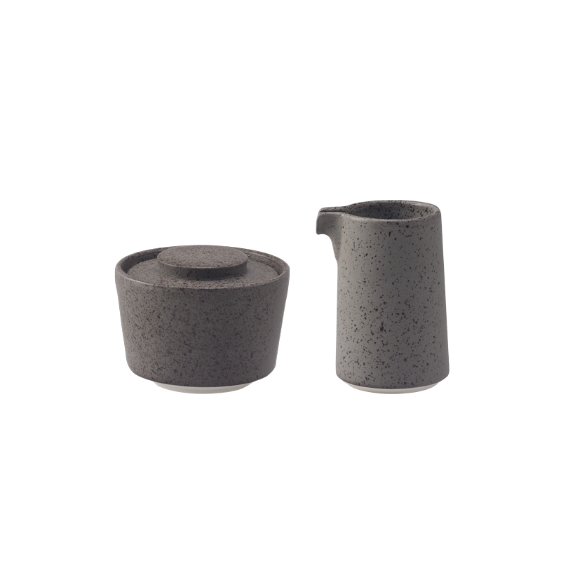 Stone 125ml Sugar Pot and Creamer Set (Granite)