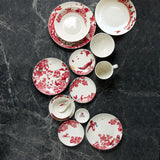 A Curious Toile 8cm Sauce Dish (Red)