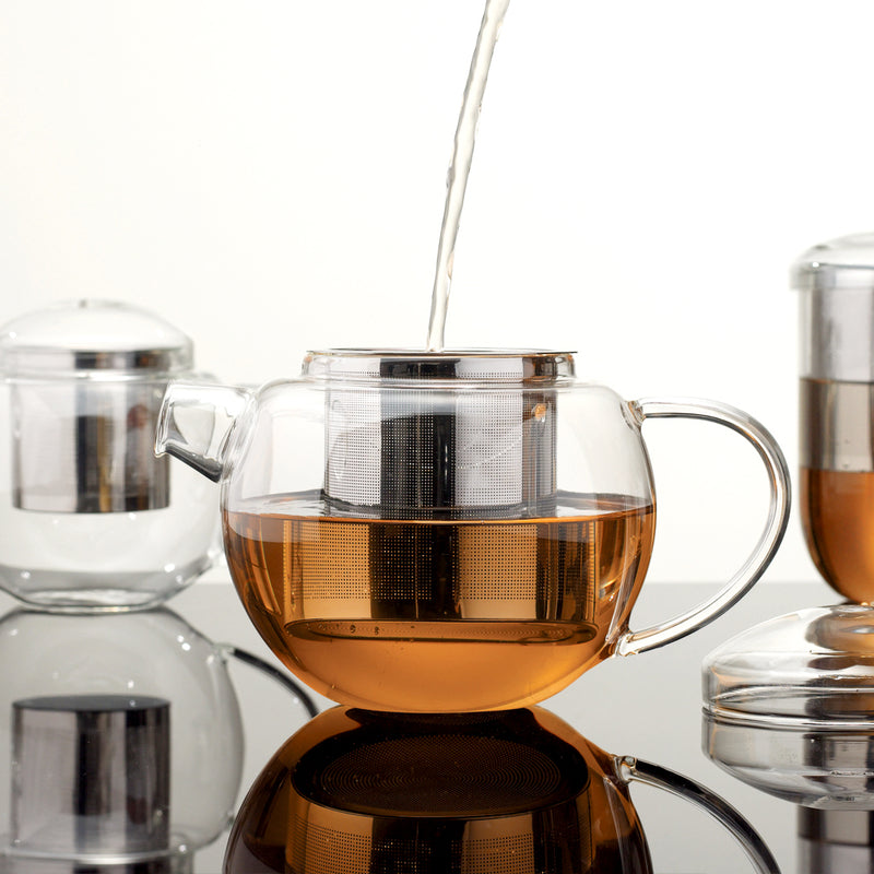 Pro Tea 600ml Glass Teapot with Infuser (Clear)