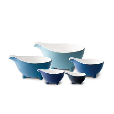 Tripod Set of 5 Bowls Set (Blue)