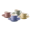 Weave Set of 4 80ml Espresso Cup and Saucer