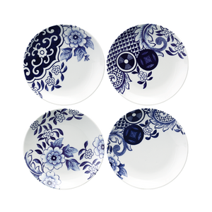 Willow Love Story Set of 4 x 15cm Assorted Side Plate (Blue)