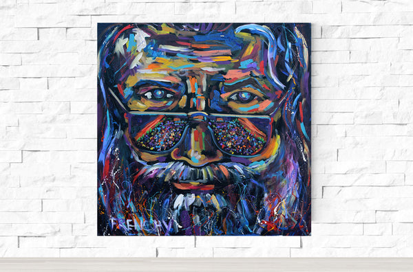 Jerry Garcia Portrait Red Rocks
