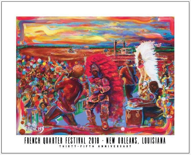 2018 French Quarter Festival Poster
