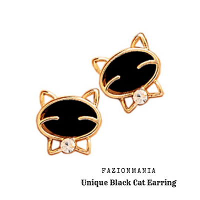 Black Cat Earring-Label