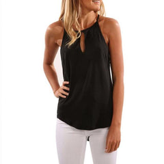 Sleeveless Blouse-Black
