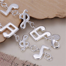 Load image into Gallery viewer, Silver Musical Note Women Bracelets