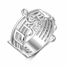 Load image into Gallery viewer, Trendy Musical Note Pattern Ring