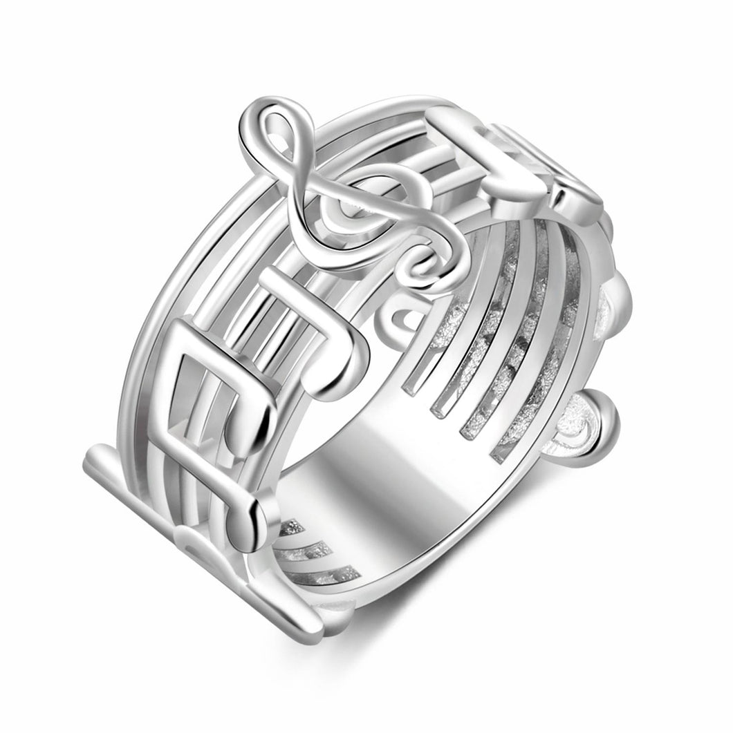 Trendy Musical Note Pattern Ring