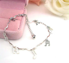 Load image into Gallery viewer, Curve Musical Symbol Anklet Bracelet
