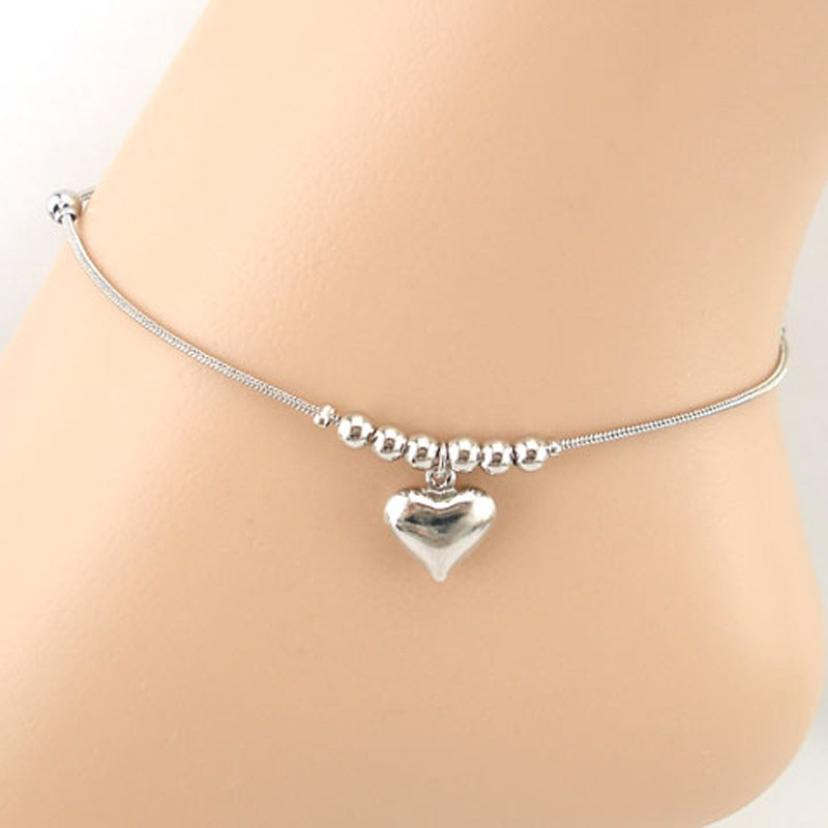 Heart-shaped Dolphins Anklet Bracelet