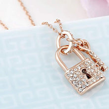 Load image into Gallery viewer, Rose Gold Century Blockade Chain Pendant Necklace